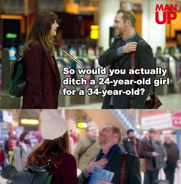 Man Up movie meme simon pegg lake bell