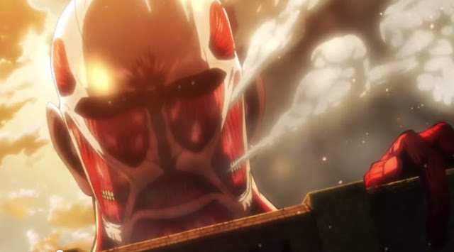 Attack on Titan Part 1 Crimson Bow Arrow still Colossal Titan