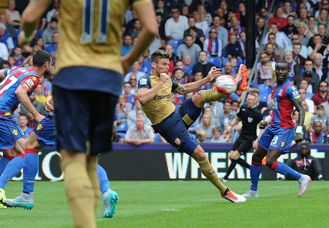 Giroud goal vs. Crystal Palace 2015