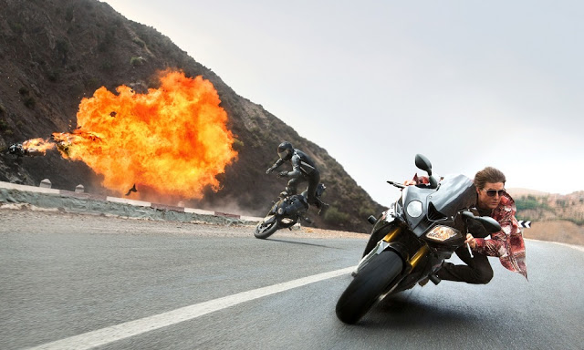 Mission Impossible 5 Rogue Nation still tom cruise bike