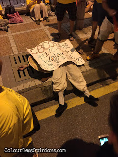 bersih 4 art performer on the street