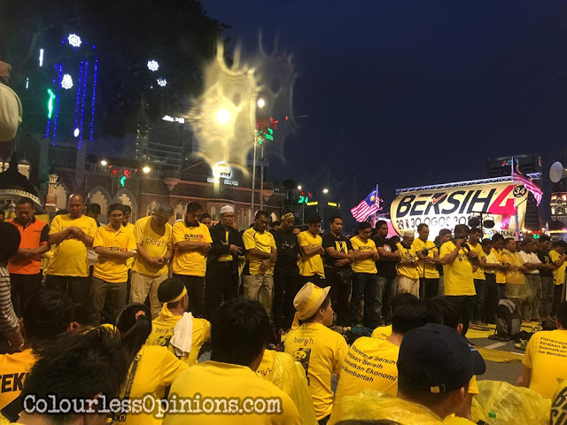 Bersih 4 muslim prayers evening