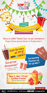 TGV Cinemas MovieClub anniversary celebration Promotion