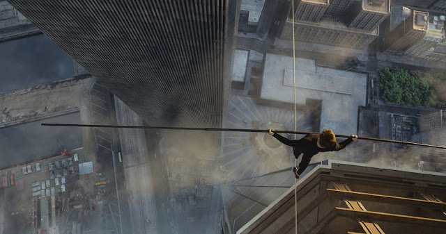 The Walk 2015 movie still high-wire walking
