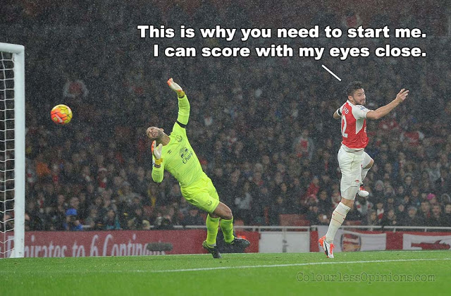 giroud header vs. everton arsenal meme 2015