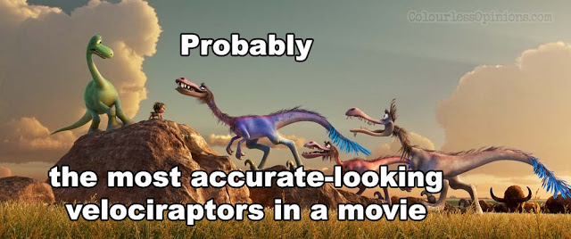raptors feathers good dinosaur 2015 movie still