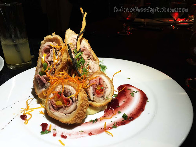 Chicken Roulade Signature the roof Christmas Dinner Special