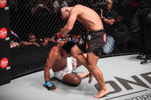 ev ting knee eric kelly one fc clash of heroes