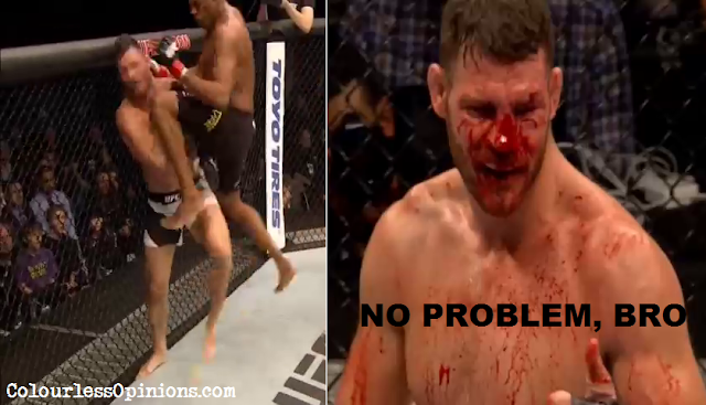 anderson silva michael bisping flying knee ufc meme