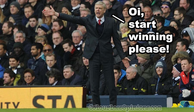 arsene wenger vs spurs 2016 meme