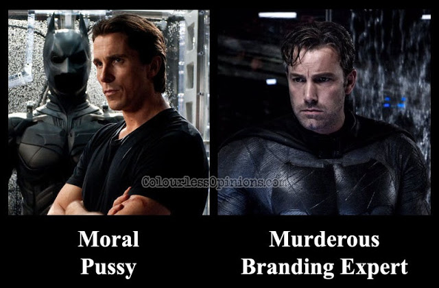 christian bale batman vs. ben affleck batman meme