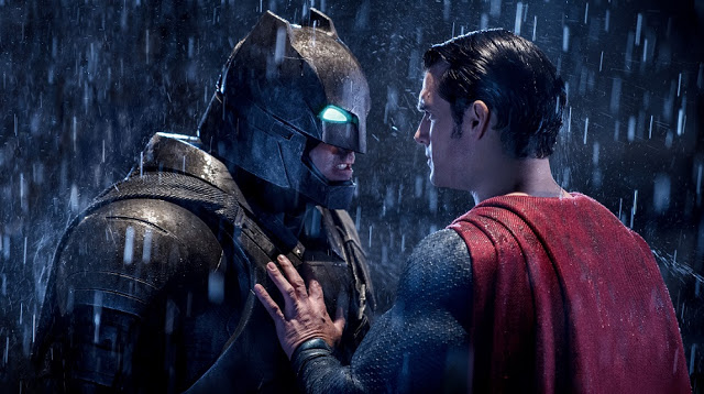 batman superman fight face off movie still