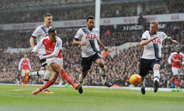 sanchez goal vs tottenham hotspur arsenal 2016