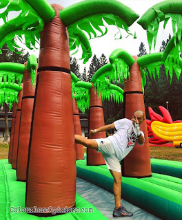 dragon run malaysia genting inflatables muay thai kick palm tree