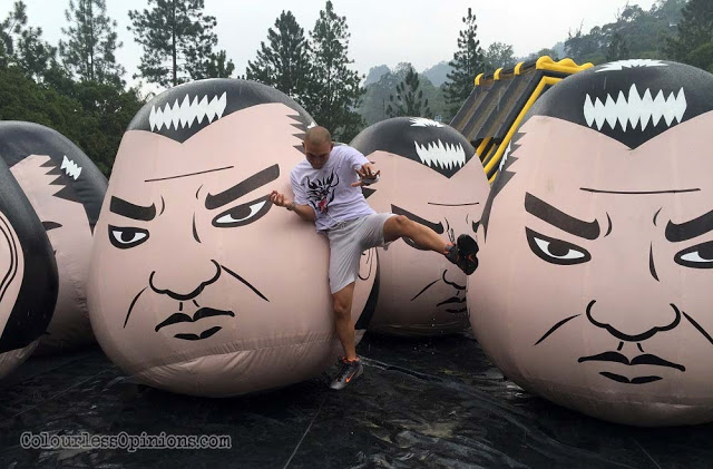 dragon run malaysia genting inflatables wobbly sumo heads