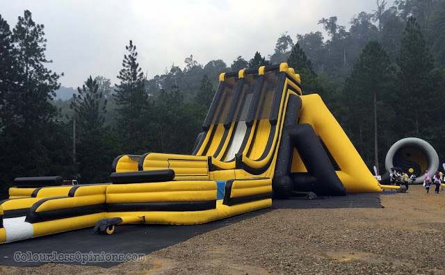 big boss slide inflatable dragon run malaysia 2016
