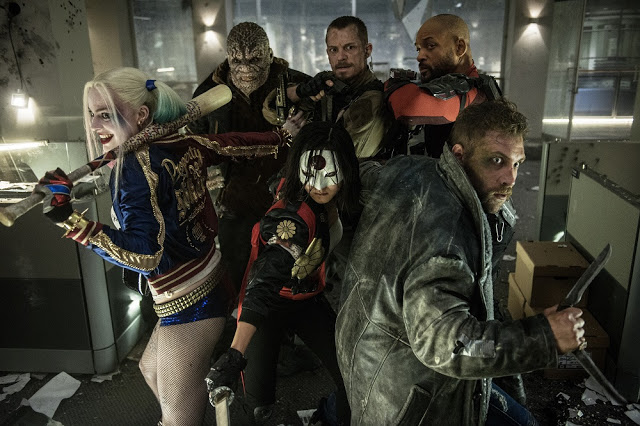 Suicide Squad movie still group photo