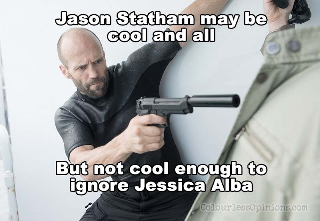 jason statham mechanic 2 resurrection jessica alba meme