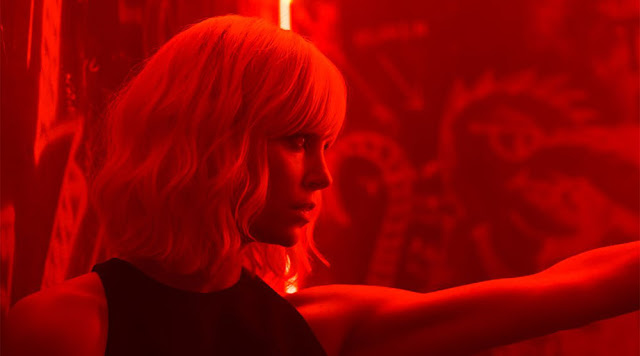 atomic blonde red movie still