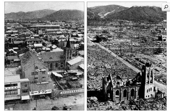 hiroshima before after bomb