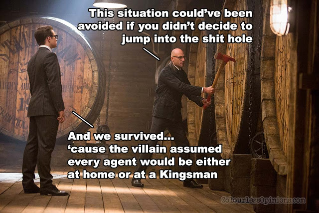 kingsman 2 golden circle movie meme