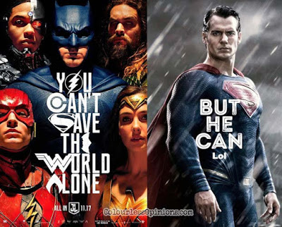 justice league you can't save world alone movie poster meme superman