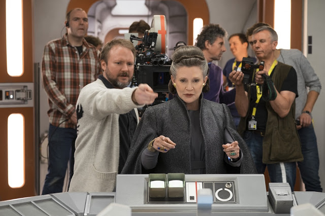 star wars 8 last jedi carrie fisher leia bts