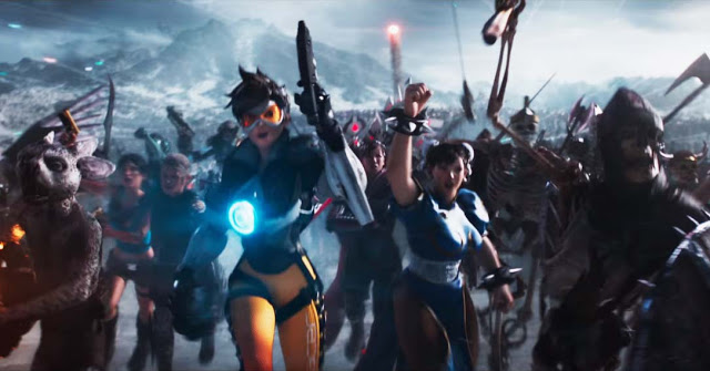 tracer chun li ready player one movie still