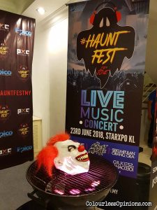clown #hauntfestmy media launch