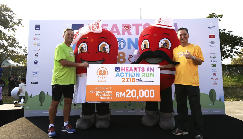 axa hearts to action run 2018 emmanuel nivet axa affin malaysia