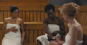 Michelle Rodriguez Viola Davis widows movie still