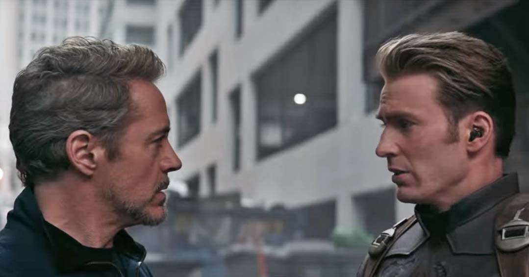 avengers endgame trust me movie still tony stark steve rodgers