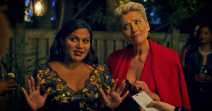 mindy kaling emma thompson late night movie still